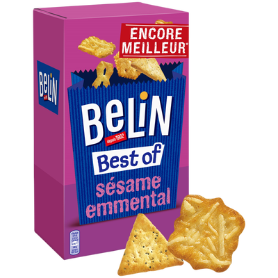 Assortiment de biscuits apéritif Crackers Télé BELIN, 50g