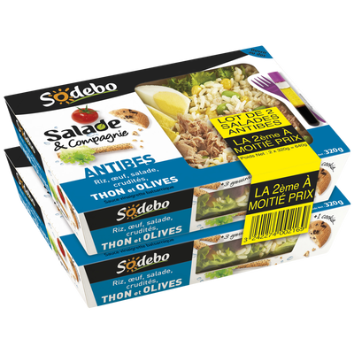 Salade d Antibes SODEBO, 2x320g + 1cookie