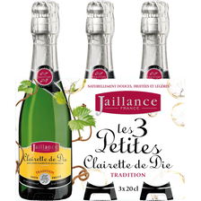 Clairette de Die AOP tradition Jaillance 7,50° blle 3x20cl