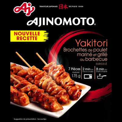Yakitori brochette poulet mariné & grillé au barbecue AJINOMOTO, 175g