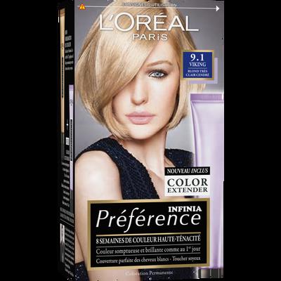 Coloration permanente Récital PREFERENCE,  Viking Z blond tr.clair cendré