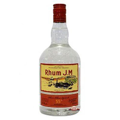 Rhum blanc agricole, RHUM J.M, 55°, la bouteille de 1L