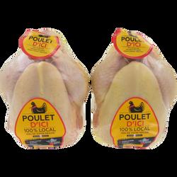Poulet jaune, POULET D'ICI, France, 2 pièces