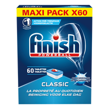 Finish Powerball Classic Au Bicarbonate , 60 Tablettes