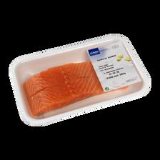 Pavé de saumon, Salmo salar, avec peau sans arêtes, élevé en Norvège,2 pièces, barquette de 280g