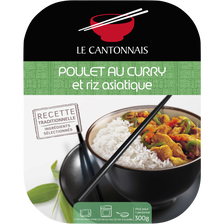 Poulet au curry et riz parfumé LE CANTONNAIS, 300g