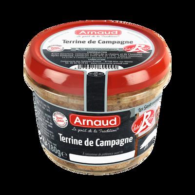 Terrine de campagne Label Rouge ARNAUD, 180G