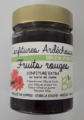 *Confiture bio fruit rouge 370g, Sopreg