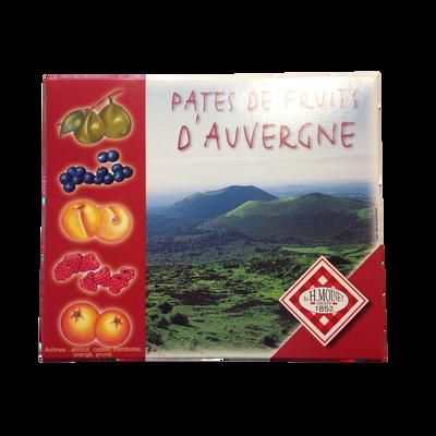 Pâte de fruits d'Auvergne Volcan MOINET VICHY, boite de 1 kg