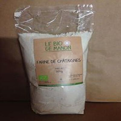 Farine de châtaignes  LE BIO DE MANON  ,300g