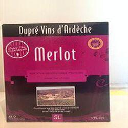 Vin Rouge IGP Ardèche MERLOT DUPRE 5L