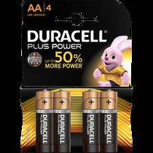 Pile DURACELL Plus Power, LR6, 4 unités