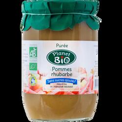 Purée pommes rhubarbe Bio, 630g
