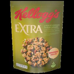 Céréales EXTRA 4 noix et copeaux saveur caramel KELLOGG'S, 450g