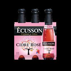 Cidre rosé ECUSSON, 3°, 3x33cl