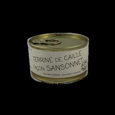 Terrine de caille façon Sansonnet LA CUISINE D'ANNETTE, 130g