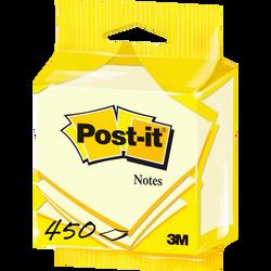 POST-IT, 76x76mm, jaune, cube de 450 feuilles