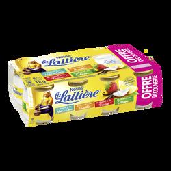 Yaourt lait entier panaché Ma Recette LA LAITIERE pot verre 8x125goffre découverte