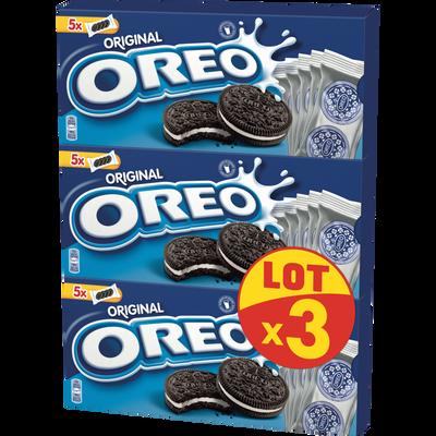 OREO cookies fourrés goût vanille, 3x220g