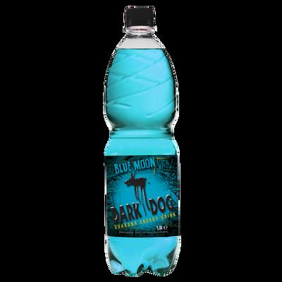 Boisson énergisante à la taurine blue moon goût de baies et menthe DARK DOG, bouteille de 1l