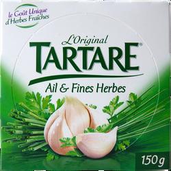 Fromage au lait pasteurisé  Ail et Fines Herbes TARTARE, 34.5%mg, 150g
