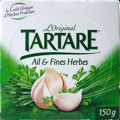 Fromage au lait pasteurisé TARTARE Ail et Fines Herbes, 34,5%MG, 150g