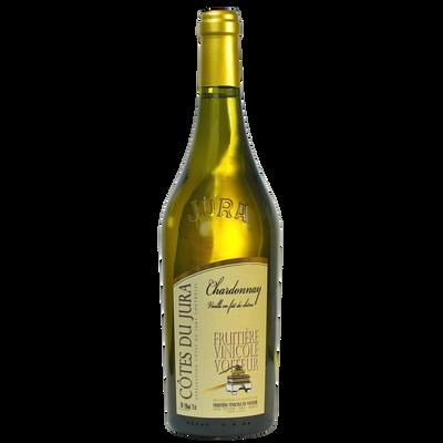 Côtes du Jura Chardonnay FRUITIERE VINICOLE DE VOITEUR vieilli en fût, bouteille de 0.75l
