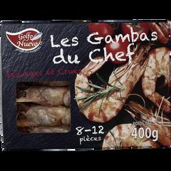 Crevettes sauvages entières crues du Mozambique GOLFO NUEVO, boîte de400g