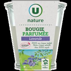 Bougie végétale parfum lavande U NATURE, pot de 120g