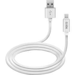 CABLE MICRO USB SBS SERIE POLO BLANC