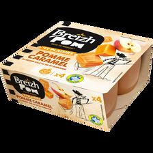 Compote pomme caramel au beurre salé BREIZH'POM, 4x100g