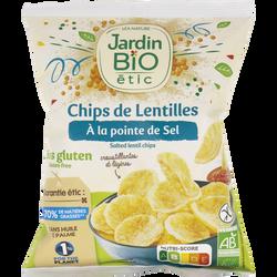 Chips lentilles soufflées salées bio JARDIN BIO 50g