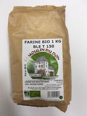 Farine de blé T150 BIO, LE MOULIN DU DON, paquet 1kg