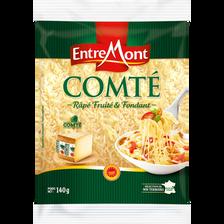Comté AOP râpé au lait cru ENTREMONT, 34% de MG, 140g