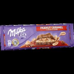 Tablette de chocolat au lait peanut caramel MILKA, 276g