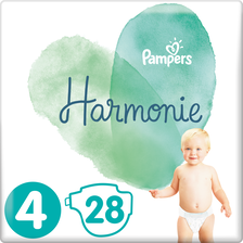 Pampers Couches Harmonie  9-14kg Taille 4 Géant Paquet X28