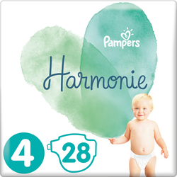 Couches harmonie taille 4 9-14kg  PAMPERS , x28