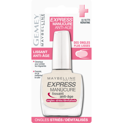 Vernis à ongles express manucure lissant anti-age GEMEY MAYBELLINE, blister