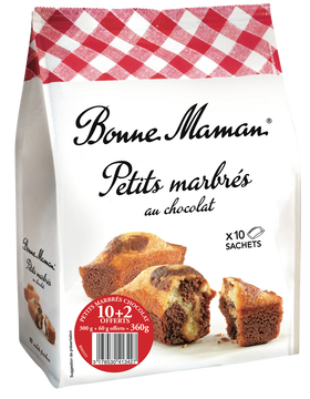 Bonne Maman Mini Marbrés Au Chocolat Bonne Maman, 10+2 Offerts Soit 360g