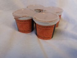 yaourts à la pêche au lait entier pasteurisé de vache ferme du Froncalou pot 4x100g