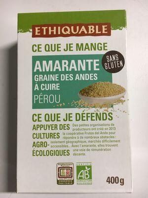 Graines d'amarante Pérou BIO 4