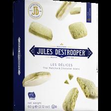 Biscuits saveur thé matcha et chaocolat blanc JULES DESTROOPER, 60g