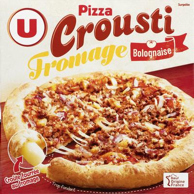 Pizza crousti fromage bolognaise U, 470g
