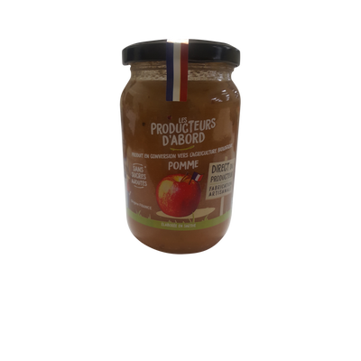 Purée de pommes conversion les producteurs d'abord, 350g
