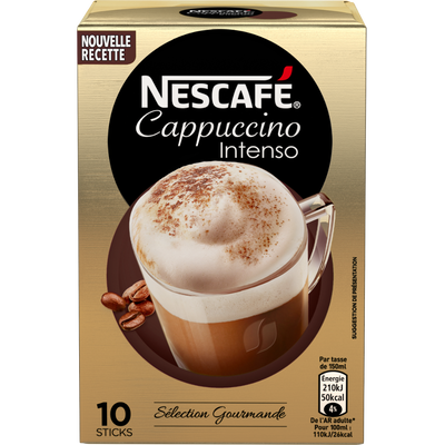 Cappuccino Intenso NESCAFE, 10 sticks, 125g