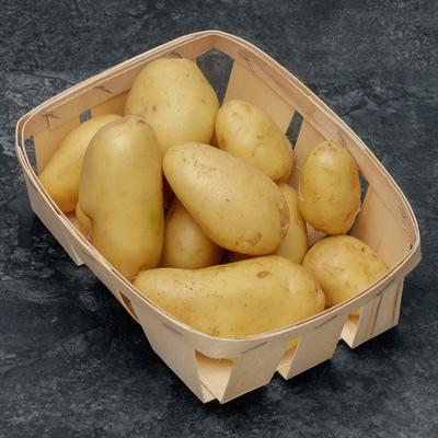 Pomme de terre Jazzy, nouvelle récolte, de consommation à chaire ferme, calibre 28/45mm, cat.1, France, barquette 1kg