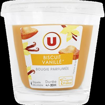 Bougie parfumée biscuit vanille durée +/-20H U, 90g
