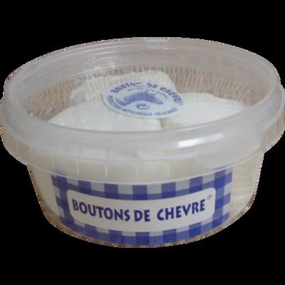 Bouton chèvre frais au lait cru, 15,5%Mat.Gr., Jeandin, boîte crist.X3, 120g