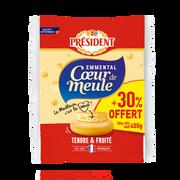 Président Emmental Français Pasteurisé Président, 28%mg, 350g + 30% Offert