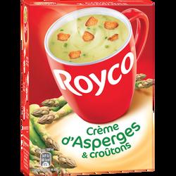 Crème d'asperges et croutons ROYCO, paquet de  80cl